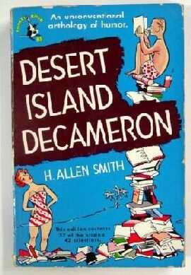 Thorne Smith in Desert Island Decameron paperback dust jacket